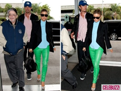 Fergie w obcisłych, skórzanych, zielonych spodniach!