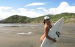 Surfowała całkiem NAGO!