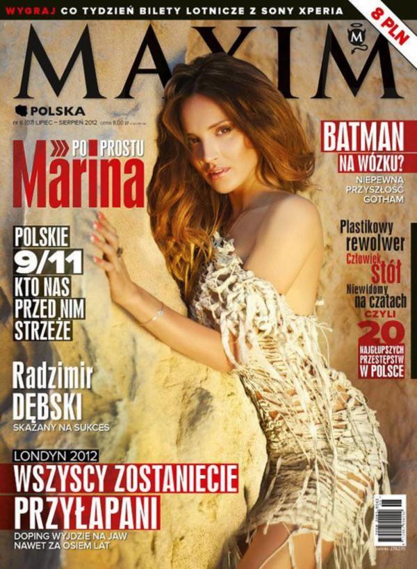 Seksowna Marina na okładce Maxima